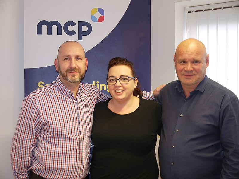From Left to Right: MCP Environmental - Managing Director,Andy Stubbs, Pragmatic Consultancy-Managing Director, Joeann Niblett and MCP-Civils Operations Manager, Stuart Parker