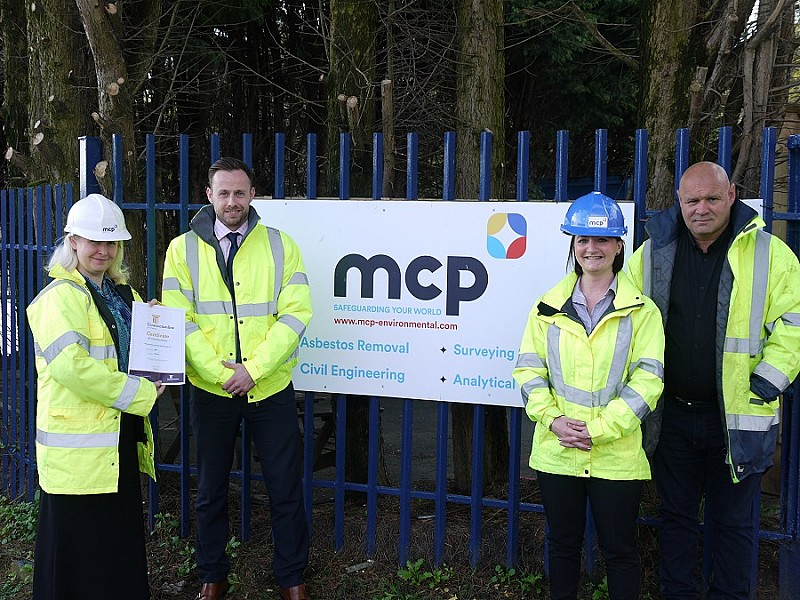 MCP staff celebrate Constructionline Gold accreditation