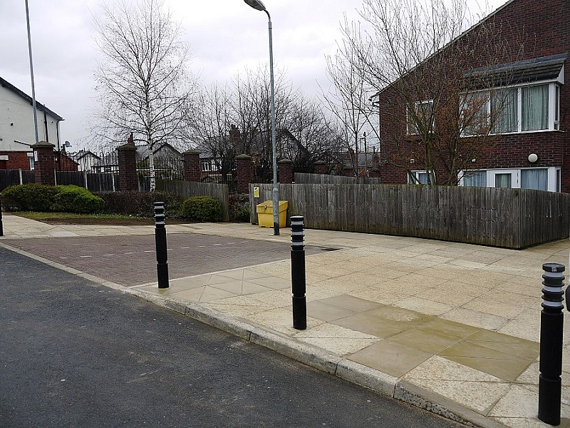Pavement relaying and bollards completed
