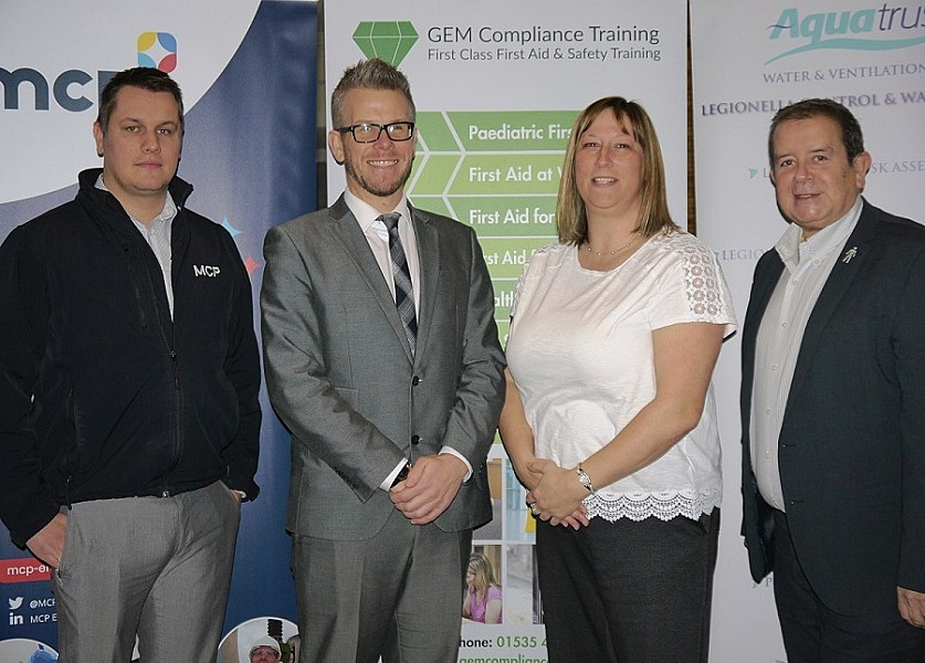 L-R: MCP Asbestos Surveying Projects Manager Damian Godward, GEM Compliance Training, Managing Director -Gavin Milligan